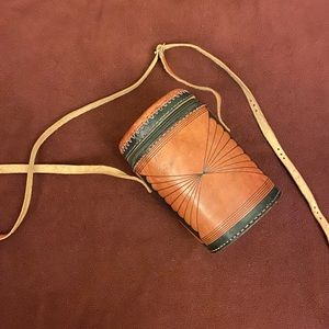Handbags - Round Leather purse